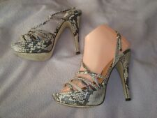 L.K.Bennett  UK 5  EU 38  Snake Print  Leather Platform Sandals  RRP £ 129.00