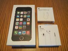 APPLE iPhone 5S Nero Grigio Siderale Black 16 GB EarPods Cuffie Lightning Jack