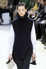 Celine by Phoebe Philo Navy Blue Wool & Cashmere Runway Tunic Sweater Size Small