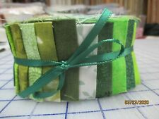 Shades Of Green Jelly Roll For Quilters