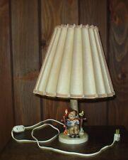Vintage Hummel Lamp with shade she loves me she loves me not original shade