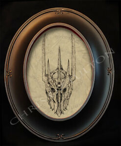 Lord Of The Rings Sauron Tolkien Movie Framed Art Print Chris Oz Fulton Signed