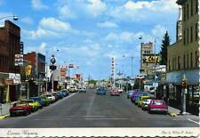 Laramie Wyoming WY USA 3rd Street looking north 1960s postcard