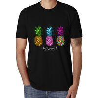 Pineapple Printed Black Tee Cotton men Funny T-shirt Casual Short Sleeve Tops