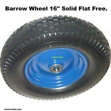 BARROW WHEEL SOLID FLAT FREE ( 16 X 4.50-8 ) DOUBLE HUB-25mm AXLE BORE - NEW.