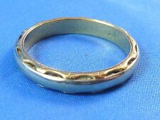 Yellow & White Gold Mans Two Tone Band Ring Size 11 Fabulous Side Scallop Design