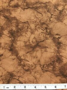 Marble Pattern Quilt Fabric - Brown - Fat Quarter