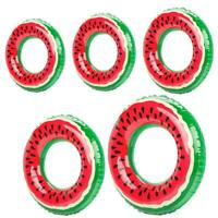 Outdoor Watermelon Swimming Ring Inflatable Pool Float Circle for Adult Kid #Z