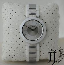 New DKNY Stanhope White Round Ceramic Sliver tone  Dial Women Watch NY2288