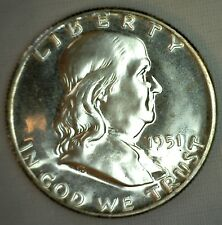 1951 Silver Franklin Proof Half Dollar Coin 50c Fifty Cents 50c No.2