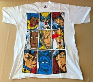 Vintage 1996 Marvel Comic Images X-Men Large Print Mens Lg T Shirt NEW RARE!