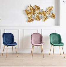 Stuhl Velvet Rosa Gold Bequem Modern