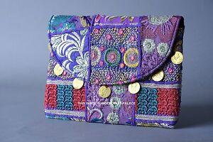 Banjara Clutch Vintage Purse Boho Indian Gypsy Handbag Handmade Tribal Purse Bag