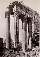 Baalbek Libano Siria Foto Albumina Stampa Verso 1890 Piccolo Fattore Forma