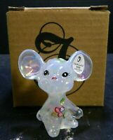"""Vintage Fenton Hand Painted French Opalescent Mouse 2.75"""" Figurine 5148 QS NIB"""