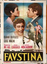 Vonetta McGee Enzo Cerusico Luigi Magni FAUSTINA manifesto 2F originale 1968