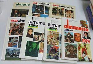 Almanacco  Storia  Illustrata . 7 libri . anni 70