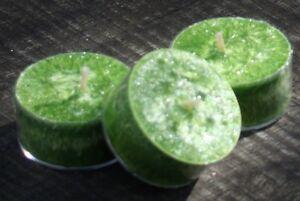 10 pk CITRONELLA & LIME ZEST Scented TEA LIGHT CANDLES 60hrs/pk MOZZIE REPELLENT