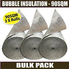 90m2 Radiantshield Reflective Foil Air Bubble Cell Roof Wall Floor Insulation