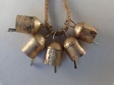 Gold Bell Sale! 5 Brass Noah Craft Bells, Wedding, Wind Chime, Dog, Wreath