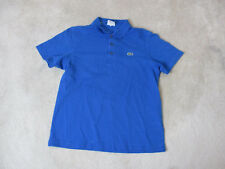 Lacoste Sport Polo Shirt Adult Medium 5 Blue Green Crocodile Rugby Casual Mens *