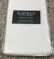 Ralph Lauren Dunham Sateen Standard Pillowcase 2 Pc Set White New