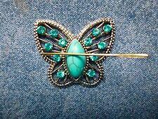 SPLENDIDA Farfalla Turchese ago Minder regalo confezionato al neodimio Cross Stitch