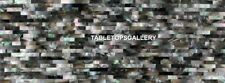 4'x2' Extendable Marble Dining Table Top Black Mother of Pearl Inlay Stone H5599