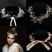 Women Girls Wedding Crystal Hair Band Headband Hoop Tiara Crown Head Piece