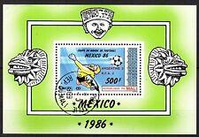 0105+  MALI BLOC  COUPE DU MONDE DE FOOT  1986 SURCHARGE