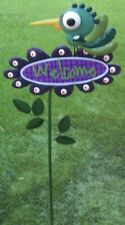 """Garden Lawn Yard Decoration Whimsically Styled Green Bird Welcome Sign NEW 42"""""""