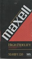 MAXELL XL HiFi T-120 VHS VCR Video Cassette Tape