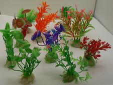 10 x Künstliche Wasserpflanze Set  Aquarium Plastik sehr realistisch