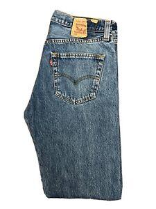 Original Levi's 501® Classic Straight Leg Blue Denim Jeans W32 L34 ES 8293