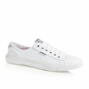 Superdry Low Pro Womens Footwear Trainers - Optic White All Sizes