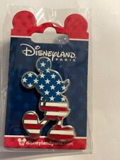 DLP DLRP Paris Americana USA Flag Mickey Mouse Disney Pin (B)