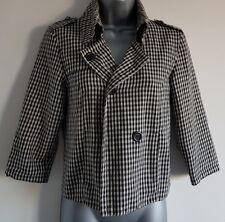 Size 10 Jacket NEW LOOK Black White Check Fitted Excellent Condition Women's
