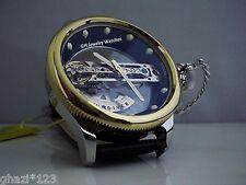 Invicta Men's Russian Diver Bridge Automatic Gold Tone SS Leather Strap Watch!!!