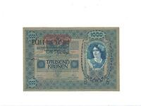 """Österreich  1.000 Kronen  1902(1919)  Pick. 58  """"ECHT"""" Stempel  UNC"""
