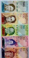VENEZUELA 2007 2016 2 5 10 20 50 100 500 Bolivars NEW COLOURFUL UNCIRCULATED SET