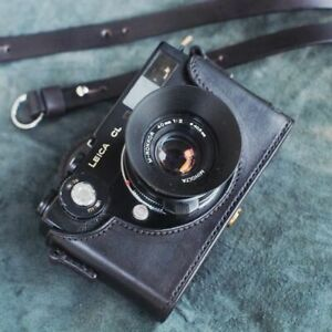 Leather Black Half Case for Leica CL with Neck Strap - BRAND NEW