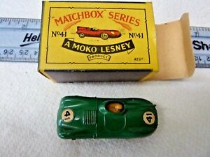 MATCHBOX MOKO LESNEY MODEL No.41   JAGUAR 'D' TYPE   IN ORIGINAL BOX