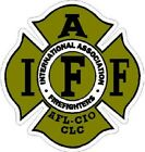 4 Inch 3M-Reflective Gold IAFF Firefighter Sticker Decal