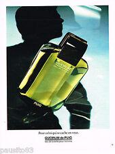 PUBLICITE ADVERTISING 065  1984  PUIG  Eau de toilette  homme  QUORUM
