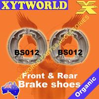 FRONT REAR Brake Shoes SUZUKI FR 80 1976 1977 1978 1979 1980 1981 1982 1983