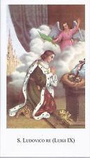 S. LUDOVICO RE ( LUIGI IX ) -  SANTINO - AS014-289 - Ed. Paco