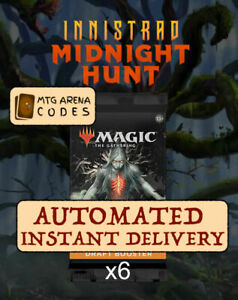 MAGIC MTG Arena Innistrad 6 Boosters Packs Prerelease Code Card MID - INSTANT