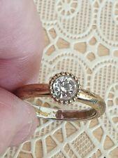 Fashion Jewellery Ring gold Tone with single fake stone