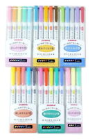 NEW COLOR Zebra Mildliner Highlighter Double Sided Marker Pen Mild Pastel J24