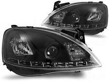 LED HEADLIGHTS LPOP44 OPEL CORSA C 2000 2001 2002 2003 2004 2005 2006 BLACK